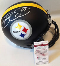 PITTSBURGH STEELERS BRETT KEISEL SIGNED CUSTOM BLACK MATTE FULLSIZE HELMET JSA!!