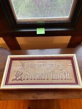 Antique Victorian Punched Paper Sampler I know that my Redeemer Liveth Motto