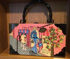 """Choice Made Cigar Box Purse With Handle And Sequin girl """"I live to shop"""""""