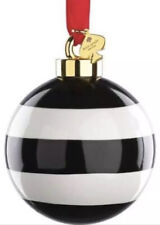 Kate Spade Lenox Deck The Halls Stripe Ornament Christmas Ornament  NEW IN BOX