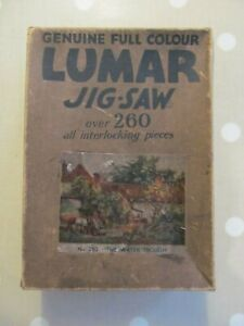 VINTAGE LUMAR JIGSAW PUZZLE OF THE WATER TROUGH NO 210 COMPLETE