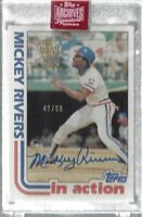 Mickey Rivers 2019 Topps Archives Signature Series On Card Auto/99 Rangers MLB!