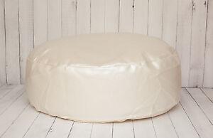 Travel Size Leather Newborn Posing Bean Bag - Infant Poser Pillow -Photo Prop