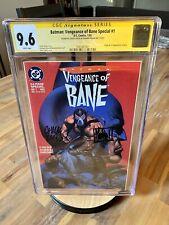Batman Vengeance of Bane Special #1 (1st Print) CGC SS 9.6 2x Dixon & Nolan 🔑