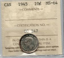 10c 1945 ICCS MS64