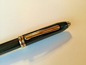 ***START USD 99*** CROSS Townsend pen, black, 18 carat M gold nib