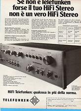 (AM) EPOCA974-PUBBLICITA'/ADVERTISING-1974-TELEFUNKEN V 60 HIFI