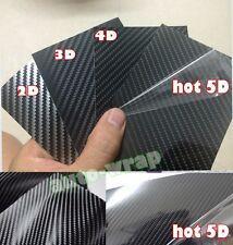 1 Lot Samples - Car 2D 3D 4D 5D Black Carbon Fiber Vinyl Wrap Sticker Film Decal