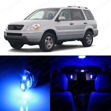 18 x Ultra Blue LED Lights Interior Package Kit For Honda PILOT 2003 - 2005