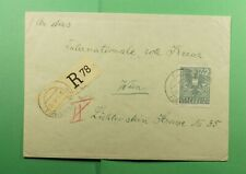 DR WHO 1945 AUSTRIA REGISTERED TO VIENNA RED CROSS  f47656