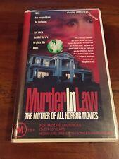MURDER IN LAW - JOE ESTEVEZ , CLAMSHELL 1989 RARE  VHS VIDEO TAPE