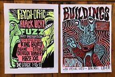 Screen Printed Gig Poster - Melvins King Buzzo Haze XXL Amphetamine Reptile