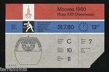 h042 Original Ticket Summer Olympic Games MOSCOW 1980 – BOXING