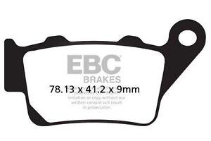 FIT BMW F 800 S (Half fairing/Disc has loos 06>08 EBC Organic Pad Set Rear Right