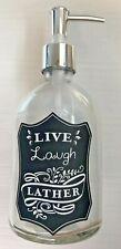 LIVE LAUGH LATHER Soap Dispenser Rustic Vintage Inspired Farmhouse-GLOBAL SHIP!