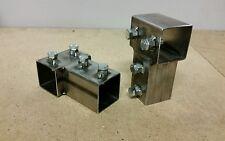 DIY 2x2 brackets target stands sign holders welded STEEL AR500 Gongs zombies