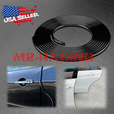 "180"" Long Black Car Door Edge Guard Molding Trim DIY Protectors Strip 15ft"