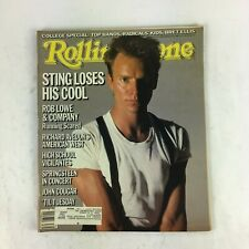 September 1985 Rolling Stone Magazine Sting Loses His Cool Rob Lowe John Cougar