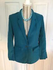 Pendleton Women's Size 8 Teal Button Down Vintage Pockets Blazer A-4