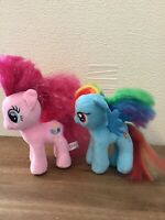 "My Little Pony Bundle Pinkie Pie & Rainbow Dash 7"" Plush MLP Great Fun Gift"