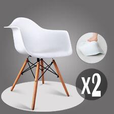 2 Weiß Esszimmerstuhl Stüle mit Retro Sessel Esszimmer Bürostüle küchen stühle