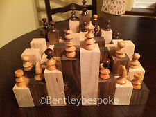 wooden chess board 'rough terrain' made from softwood