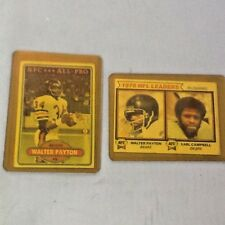 WALTER PAYTON Collector Cards Topps # 160 1978 NFL Rushing Payton Campbell