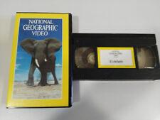 EL ELEFANTE - VHS TAPE CINTA NATIONAL GEOGRAPHIC