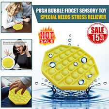 Push Bubble Fidget Sensory Toy Special Needs Stress Reliever Silent Classroom