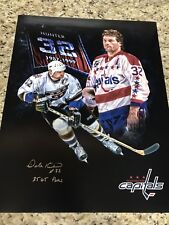 Capitals Signed  Custom 16x20 Picture Dale Hunter AAG Witness