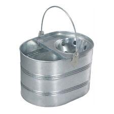 Metal Mop Bucket 13L Heavy Duty Cleaning Floor Water Holder Galvanised Litre