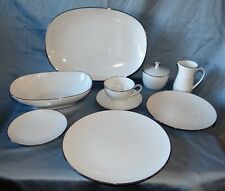 54 Pc Noritake China FREMONT Service for 10 + Serving Set 6127 White & Platinum