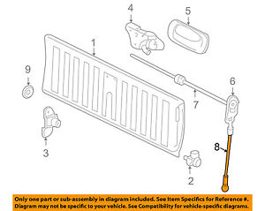 GM OEM Tail Gate Tailgate Hatch-Check Cable Strap Right 88980509