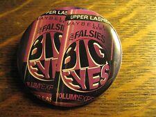 Maybelline Big Eyes Falsies Mascara Logo Advertisement Pocket Lipstick Mirror