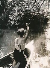 COURANT D'HUCHET c. 1935 - Jeune Femme Canoë Landes - NV 2237