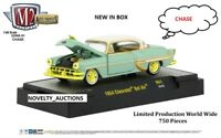 ^L133 32500 51 M2 MACHINES AUTO THENTICS 1954 CHEVROLET BEL AIR GREEN 1:64 CHASE