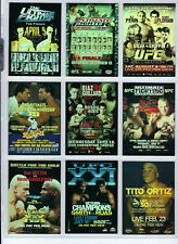 2010 - UFC - SERIES 3 - FIGHT POSTER REVIEW - MMA - INSERT SET - MINT!!!!!