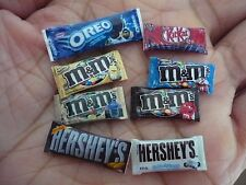 Dollhouse Miniature Packet of Chocolate Bar Candies Assortment of 8