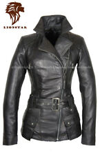Lionstar Stylish Modern Top Quality Winter Extra Warm Real Leather Ladies Coat
