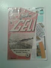 Geli Technischer Modellbogen Messerschmitt Me 110 Paper Model