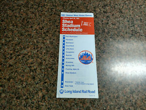 Vintage LIRR Long Island Railroad Shea Stadium Early-90s NewYork Mets Timetable