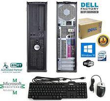 Fast Dell Slim Pc Desktop Computer Core 2 Duo 4GB 750GB Window 10 PRO 64Bit WIFI