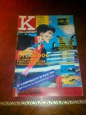K rivista videogiochi n. 30 CD TV COMMODORE LASERGAME SPACE ACE JET FIGHTER