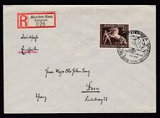 Germany 1939 Brown Ribbon on Reg cover MUNICH SPECIAL CANCEL