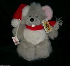 VINTAGE CHRISTMAS VOICI SHAGOOS GANZ BROS BABY GRAY MOUSE STUFFED ANIMAL PLUSH