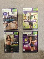 Xbox 360 - 4 Fitness Game Lot - Requires Kinect NEW SEALED