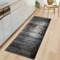 Non-Slip Kitchen Floor Mat Machine Large Runner Striped Rugs Washable Rug Door