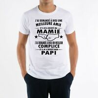 T-SHIRT HOMME  MAMIE PAPI GRAND PERE GRAND MERE