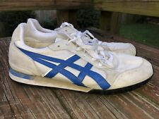 Vintage Asics Onitsuka Tiger shoes Mens size 11.5 Blue Worn Shape Overall Nice