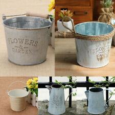 Paniers, pots et jardinières seaux en métal pour plante